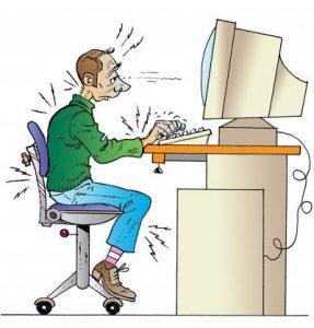 Travail Sur Ecran Mauvaise Posture